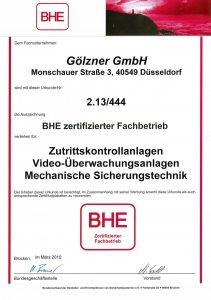 BHE BHE - Goelzner Sicherheitstechnik in Düsseldorf